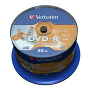 DVD-R VERBATIM Wide Printable non-ID 4,7GB 16X 50ks/cake
