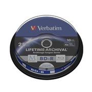 M-DISC VERBATIM BD-R 4x 25GB Printable 10ks/cake