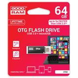 64 GB .     USB 3.0 kľúč . GOODDRIVE TWIN Čierna
